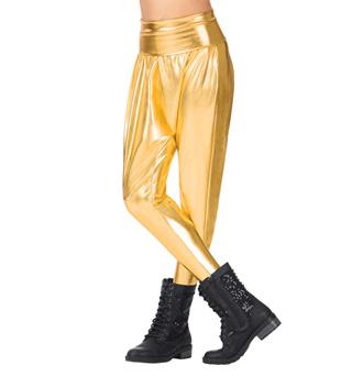 Girls Metallic Harem Pants - Style No N7227C