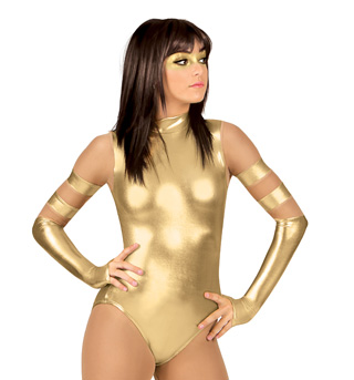 Adult Long Sleeve Metallic Cosplay Leotard - Style No N7249
