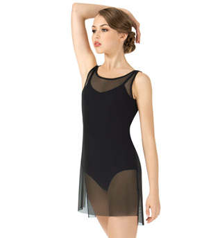 Adult Short Mesh Tank Lyrical Dress - Style No N7602