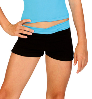 Child Color Block Dance Shorts - Style No N8361C