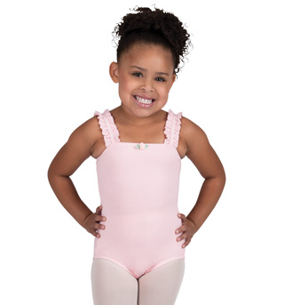 Child Tank Leotard With Ruffle Straps - Style No N8607Cx