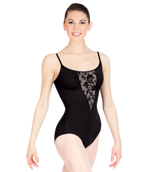 Lace Inset Camisole Leotard - Style No N8651x