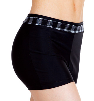 Adult Plaid Waistband Booty Short - Style No N8669