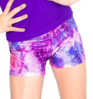 Child Metallic Print Dance Short - Style No N8686Cx