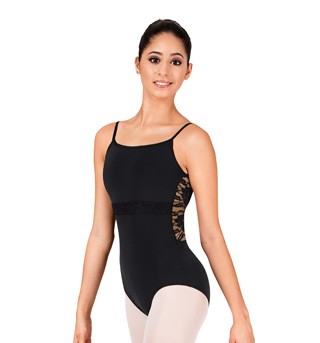 Adult Lace Inset Camisole Leotard - Style No N8748
