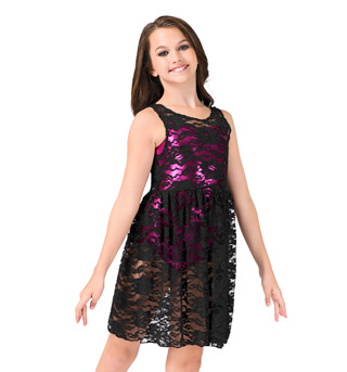 Girls Lace Tank Overdress - Style No N8772C