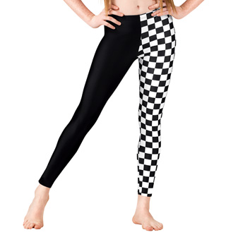 Girls Checkered Leggings - Style No N8837C