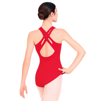 Adult Criss-cross Back Tank Leotard - Style No N9503