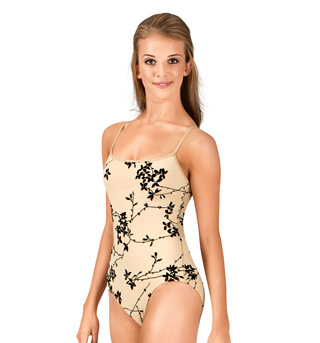 Adult Flocked Camisole Leotard - Style No NAB107