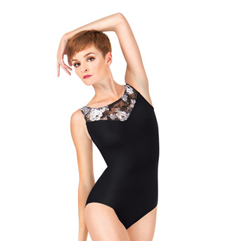 Adult Lace Boatneck Tank Leotard - Style No NAB111x