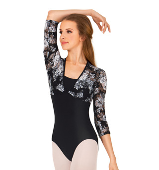 Adult Lace Long Sleeve Leotard - Style No NAB116