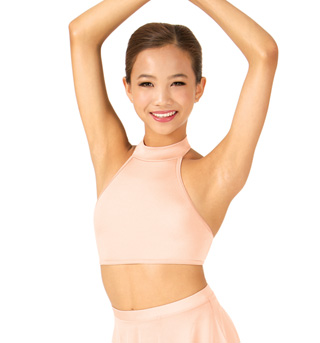 Child Double Strap Halter Dance Crop Top - Style No NL1019
