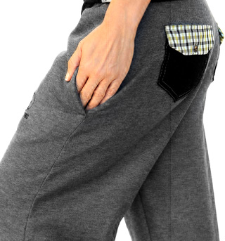 Plaid Pocket Tabby Sweats - Style No NT420