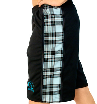 B-Ball Short with Teal Plaid - Style No NT526