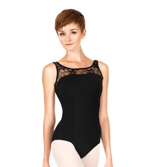 Adult Lace Bodice Tank Leotard - Style No P221