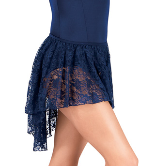 Adult Asymmetrical Lace Skirt - Style No P222