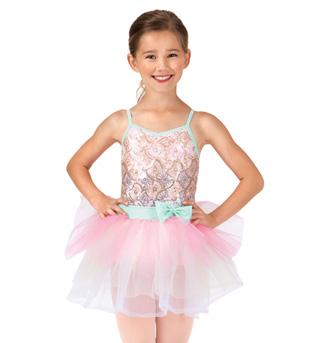 Child Sequin Starburst Camisole Tutu Costume Dress - Style No PB2002C