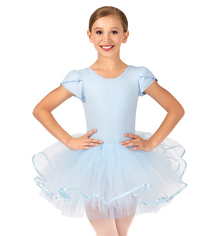 Child Short Sleeve Tutu Dress - Style No PB2022C