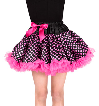 Girls Silk Overlay Tutu Skirt - Style No PC064M