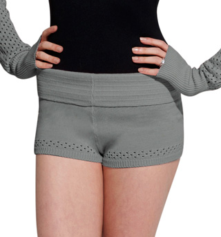 Adult Open Knit Dance Short - Style No R6524