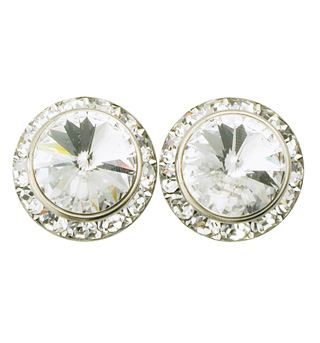 11mm Pierced Swarovski Earrings - Style No RU025
