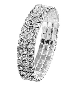 3-Row Crystal Stretch Bracelet For Children - Style No RU044