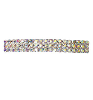 Crystal Aurora Borealis Barrette French Clip Large - Style No RU049