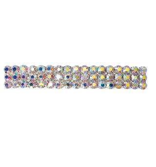 Crystal Aurora Borealis Barrette French Clip Small - Style No RU050
