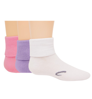 3-Pack Girls Turn Cuff Socks - Style No S5500C