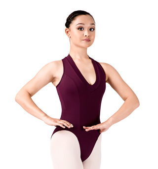 Adult Racer Zip Back Leotard with V-Neck - Style No SIL87175