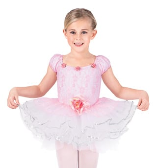 Child Rose Lace Tutu Dance Dress - Style No SK582
