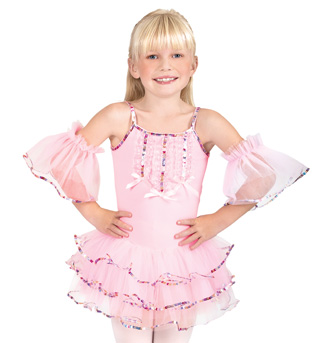 Child Camisole Tutu Dress with Flutter Armbands - Style No SK585x