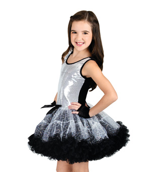 Child Sequin Tank Tutu Dress - Style No SK725