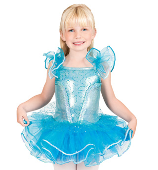 Child Flutter Sleeve Tutu Dress - Style No SK735