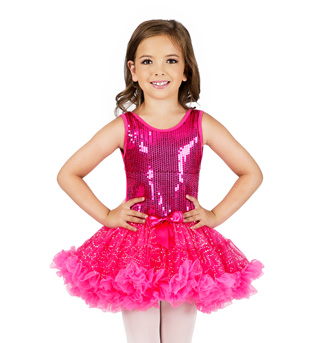 Child Sequin Tutu Costume Dress - Style No SK736M