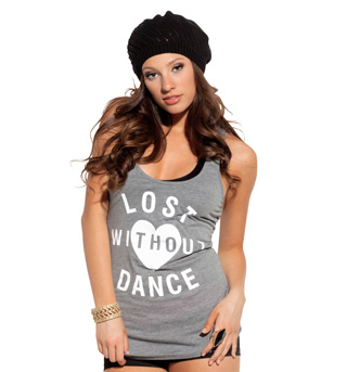 Urban Dancewear Adult Lost Without Dance Tank Top - Style No SS6023