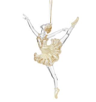 Gold Accent Ballerina Ornament - Style No T0830