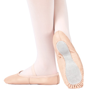 Adult Economy Leather Full Sole Ballet Shoes - Style No T1000