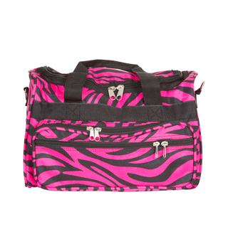 Multi Zipper Zebra Duffle Bag - Style No T13