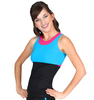 Adult Performance Essentials Contrast High Neck Tank Top - Style No T2007Z
