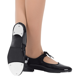 Adult Beginner Tap Shoes with Ribbon Tie - Style No T9000
