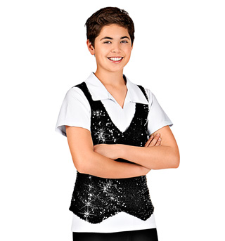 Mens Pullover Sequin Vest - Style No TH8001