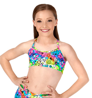 Child Psychedelic Camisole Bra Top - Style No TT078Cx