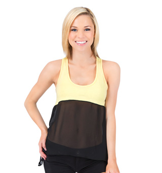 Adult and Child Sheer Color Block Tank Top - Style No UC1368x