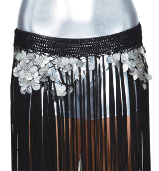 Fringe Gypsy Belt with Coins - Style No W541x