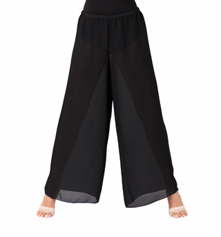 Adult Unisex Black Palazzo Worship Pants - Style No WC100BLK