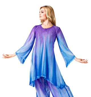 Women's Plus Size Worship Long Sleeve Tunic - Style No WC101P