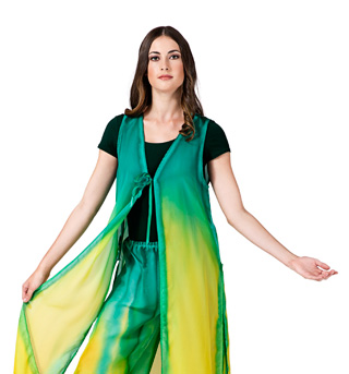 Women's Worship Tie Front Long Tunic - Style No WC103