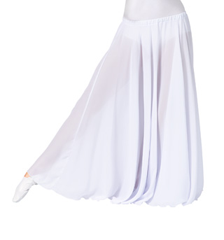 Women's Solid Worship Long Skirt - Style No WC105WB