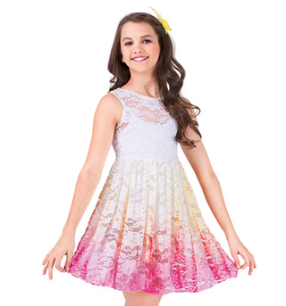 Girls Lace Tank Overdress - Style No WC203C